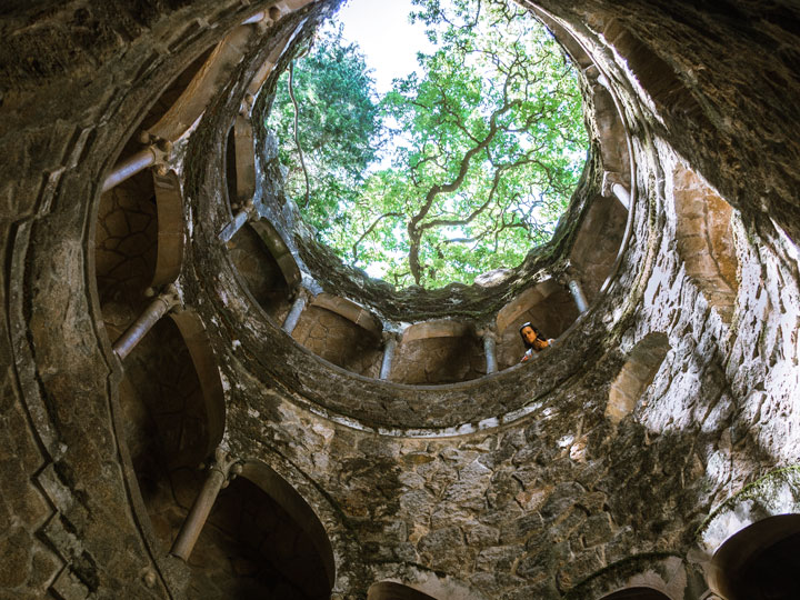 Sintra initiation well view from bottom, an essential Sintra day trip experience