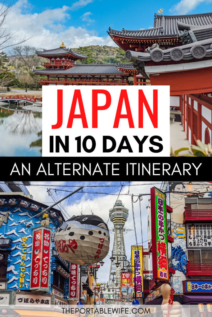 Japan in 10 Days: An Alternate Itinerary - Byodo-in red temple and pond, Osaka Dotonbori street
