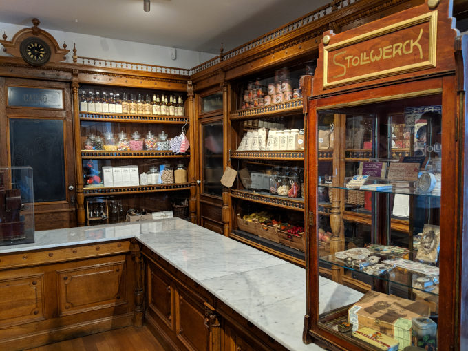 Replica of an old candy shop inside the Chocolate Museum