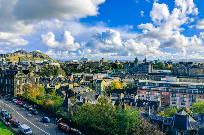 View of Edinburgh, the last stop of this self drive UK holiday