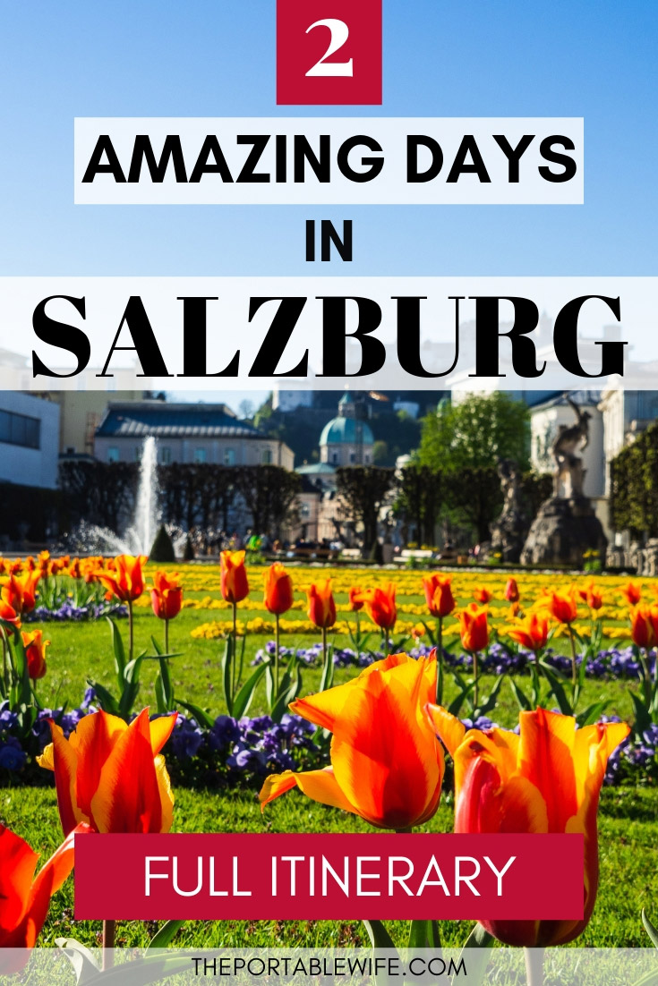 2 Amazing Days in Salzburg Itinerary - tulips and fountain in Mirabell Garden