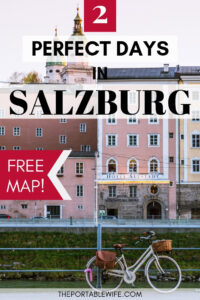 2 Days in Salzburg Itinerary with Free Map - Salzburg Old Town with vintage bike