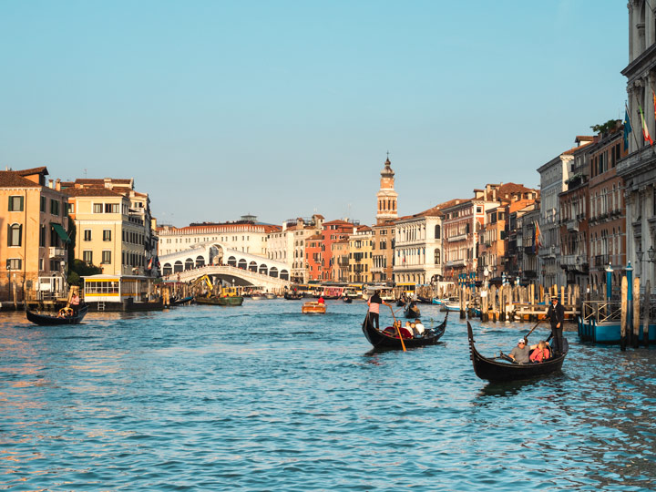 Best view over the Grand Canal and buildings in this 2 days in Venice itinerary
