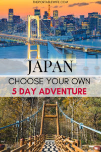 Choose Your Own Adventure: Japan 5 Day Itinerary Ideas