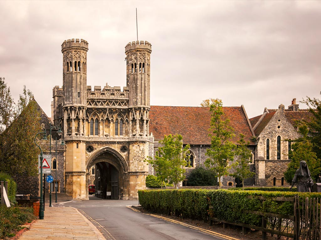 Front tower entrance to Canterbury UK.