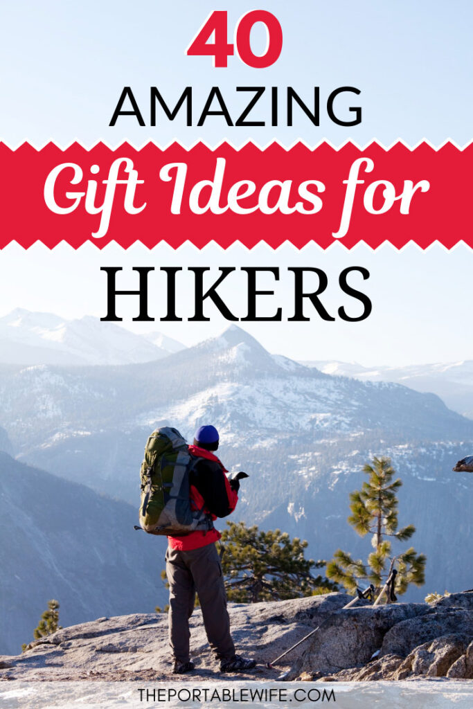 40 Amazing Gift Ideas for Hikers - Hiking man standing on cliff with mountain view
