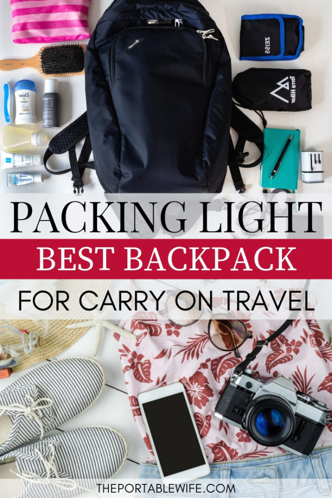 Packing Light: the best minimalist travel backpack for carry on travel