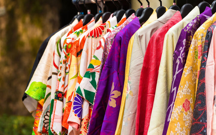 Colorful vintage kimono are the best souvenirs from Japan