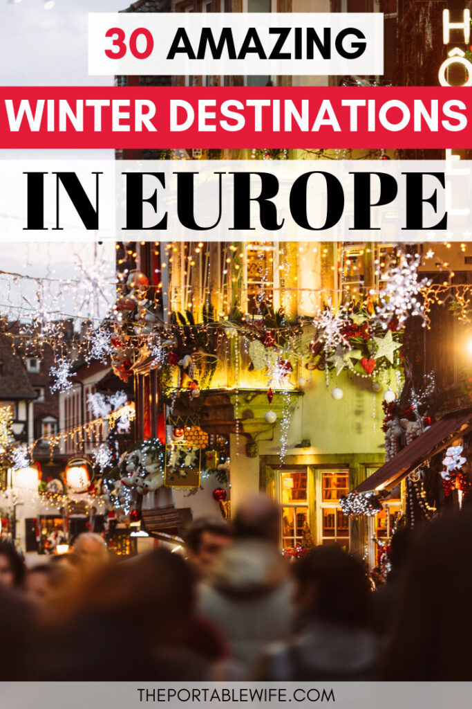 30 Best Winter Destinations in Europe - Salzburg street with Christmas lights