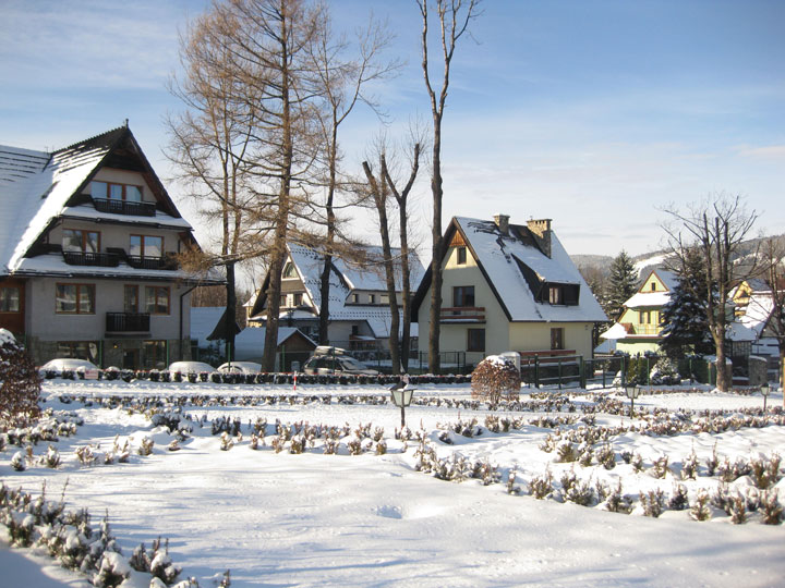 Snow covered chalets in Zakopane, an excellent Europe winter destination for winter wonderland