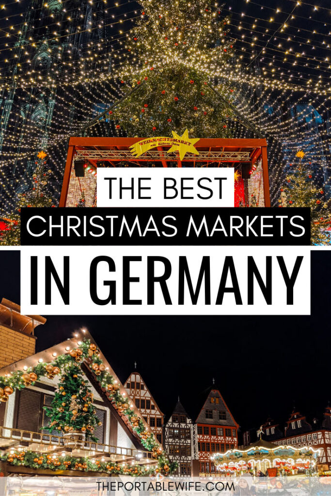 The Best Christmas Markets in Germany - Cologne Christmas market stage and Frankfurt Christmas market at night