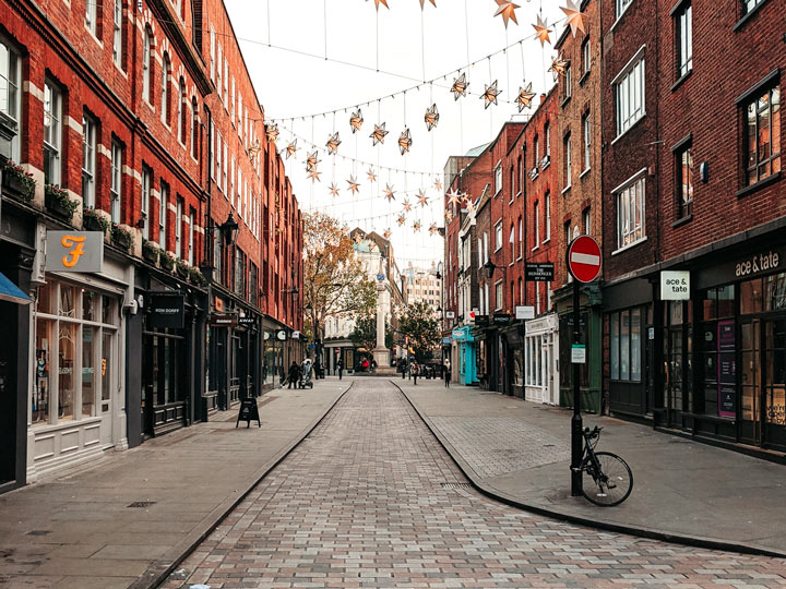 London Seven Dials street view empty of people