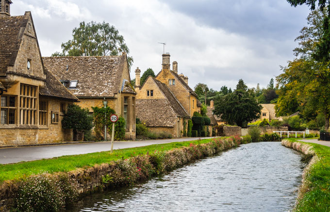 Lower Slaughter, one of the prettiest villages in the Cotswolds