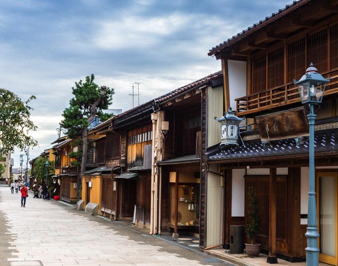 Nishi Chaya street view, Kanazawa Japan