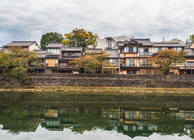 View of Kazuemachi, Kanazawa Japan