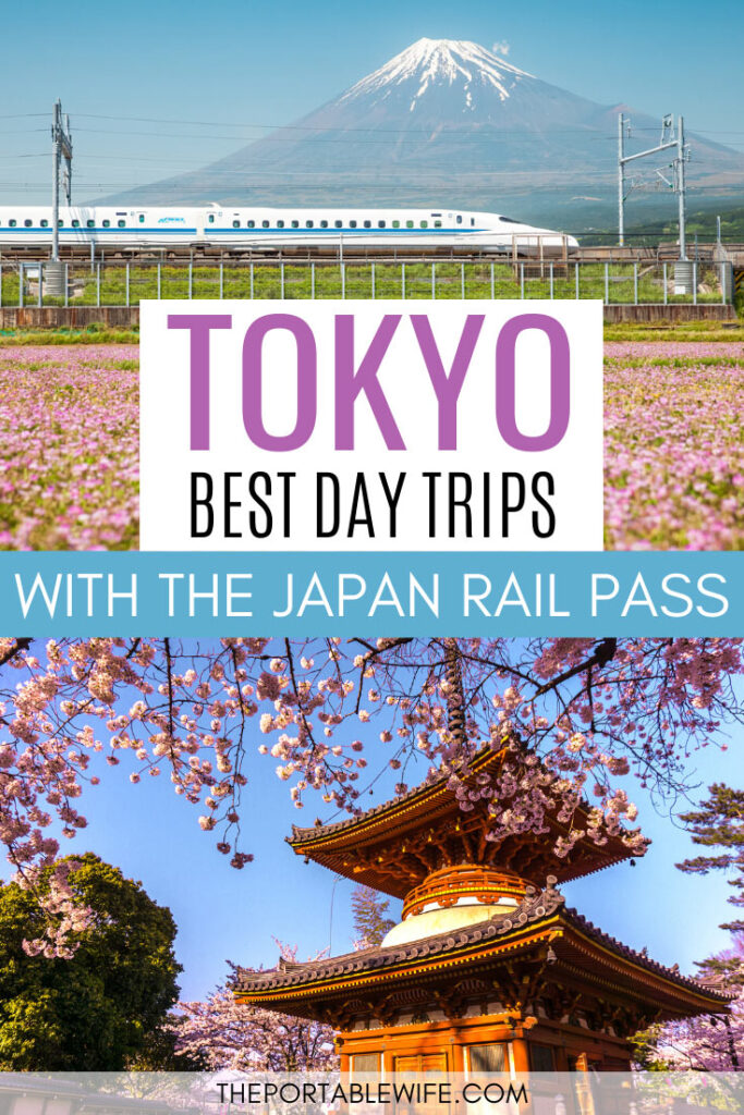 Tokyo: Best Day Trips With The Japan Rail Pass - bullet train and pagoda with cherry blossoms