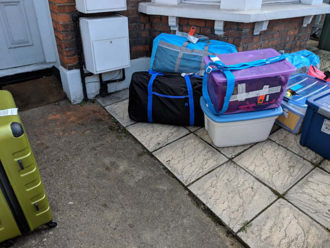 Luggage we used to downsize before moving abroad