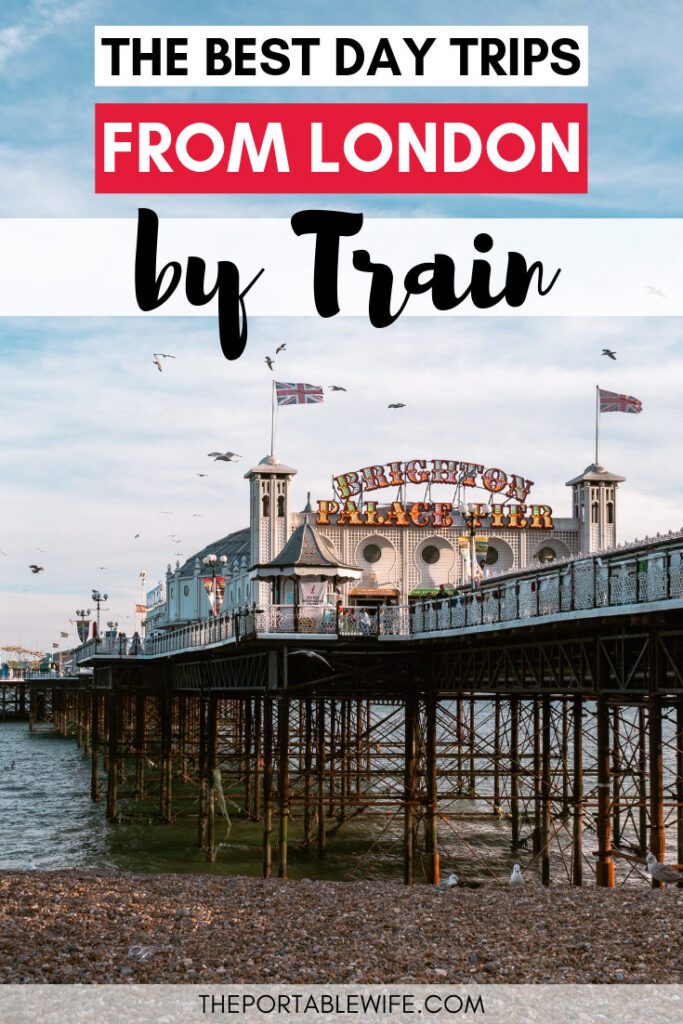 The best day trips from London by train - Brighton Pier at sunset over water