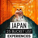 Japan Bucket List Experiences - two women in kimonos walking under Fushimi Inari torii gates