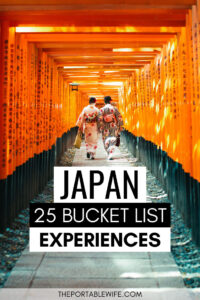 Japan Bucket List Experiences - two women in kimonos walking under Fushimi Inari torii gates