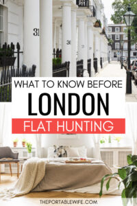 What you need to know before London flat hunting - Kensington sidewalk and bedroom