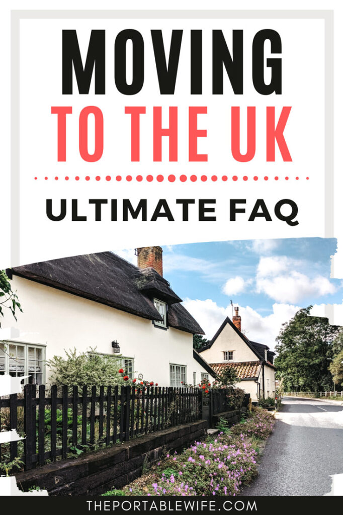 Moving to the UK Ultimate FAQ - two English cottages with purple flowers next to street