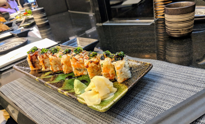 Plate of Japanese sushi