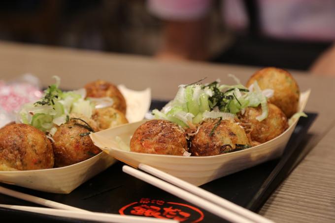 Japanese dishes with takoyaki