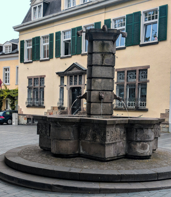 Konigswinter is full of charm, like this old fountain in the market square.