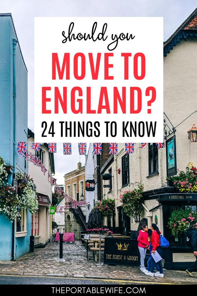 Should you move to England? 24 Things to Know - Windsor alley with British flag bunting