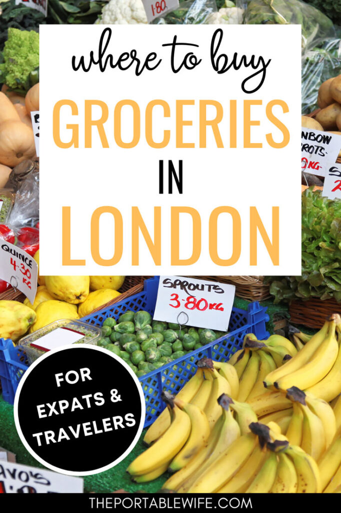 Where to buy groceries in London - bananas and brussel sprouts in bins