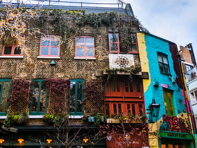 Inside Neal's Yard London, a stop on this London 4 day itinerary