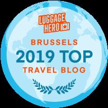 Luggage Hero Brussels 2019 Top Travel Blog badge