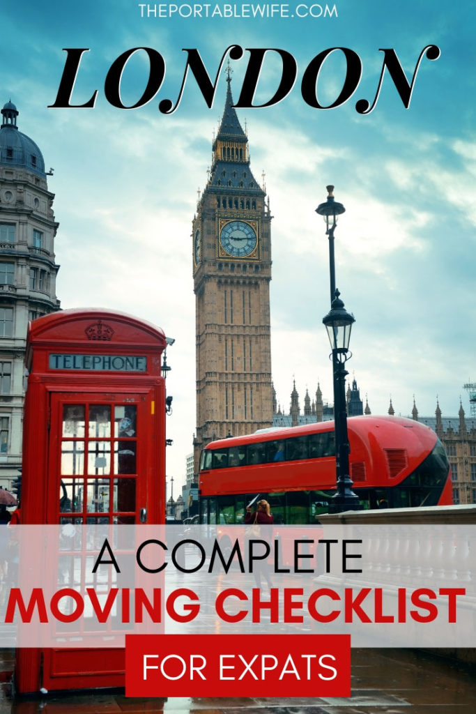 Moving to London Checklist for Expats
