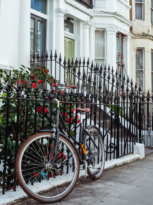 Vintage bicycle in London Notting Hill