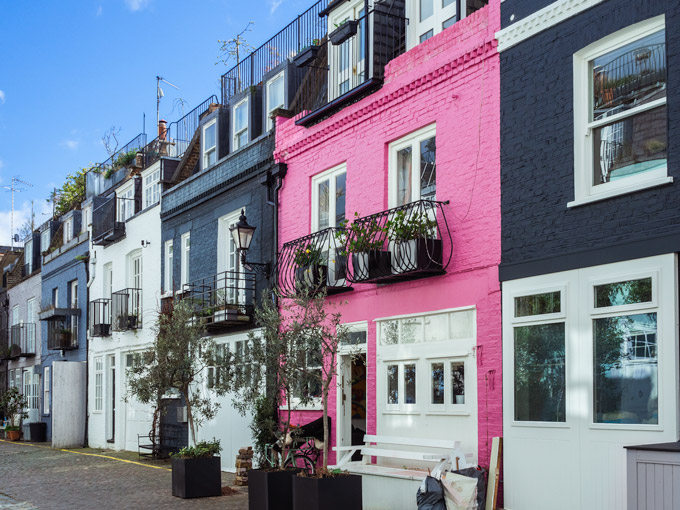 My First Year Living in London: 10 Lessons Learned - colorful facades of St. Luke's Mews
