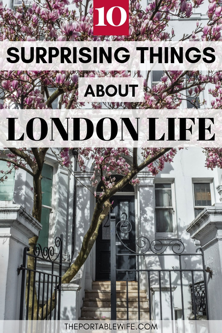10 Surprising Things I Learned My First Year Living in London - magnolia trees in front of white house