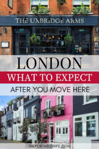 London: What to Expect After You Move - vintage pub and colorful mews street