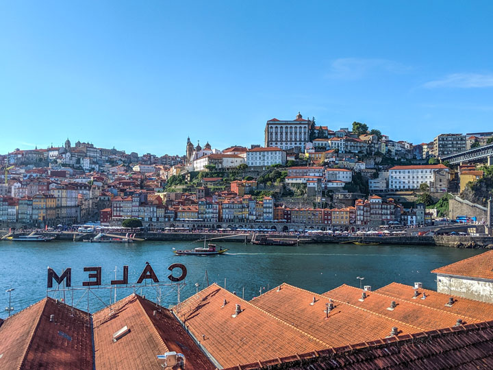 View of Porto skyline from across river