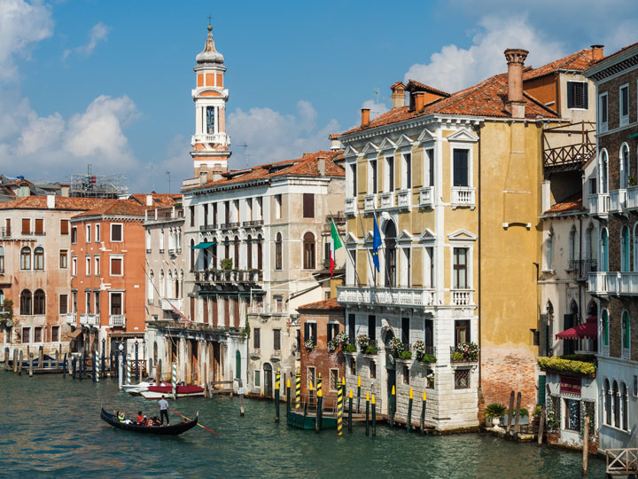 Grand Canal and colorful buildings of Venice, among the must see cities in Europe for first timers