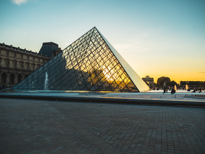 The Louvre Pyramid, a must see during 4 days in Paris