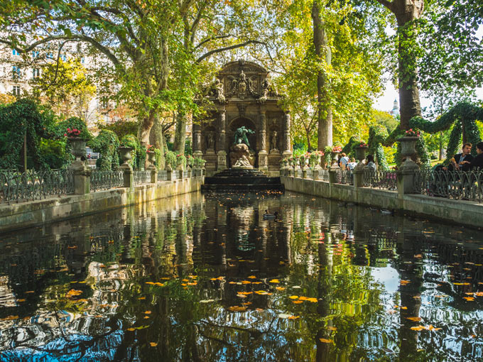 Medici Fountain in the Luxembourg Gardens of Paris