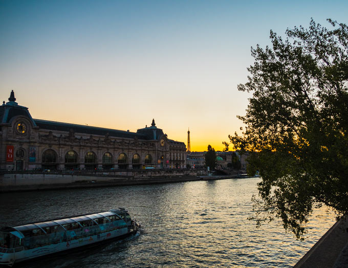 Paris itinerary: 4 days - Seine waterfront at sunset