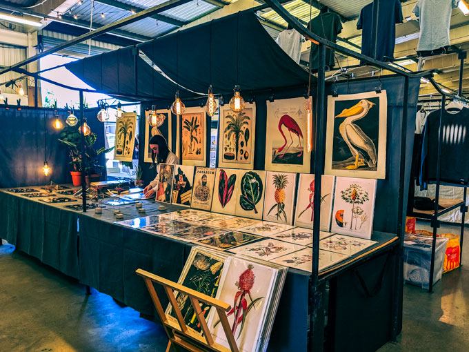 Shopping art prints at Brick Lane market is a popular non touristy things to do in London