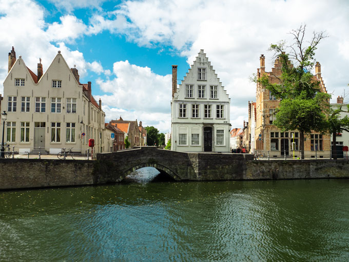 Row of canal houses in Bruges