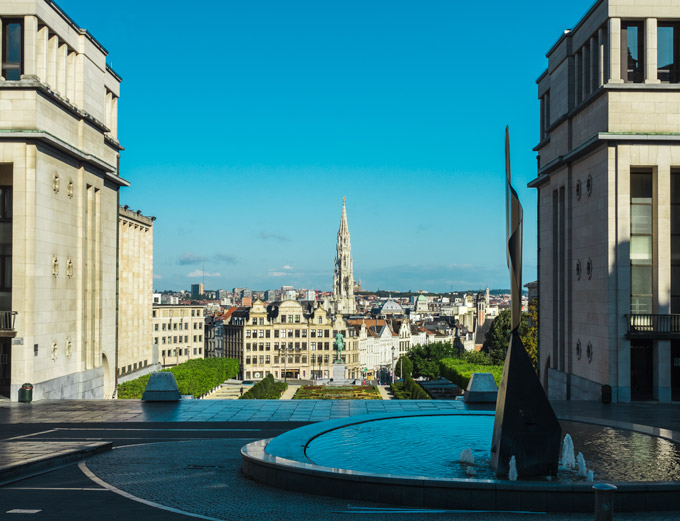 Mont des Arts overlooking Brussels