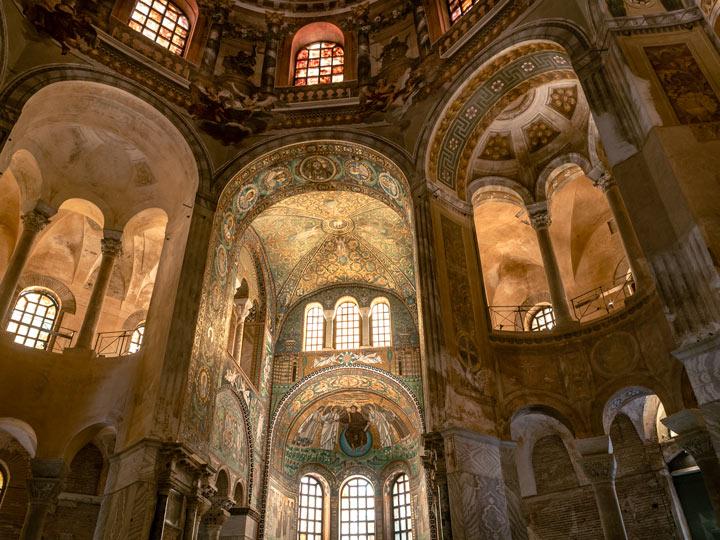 Ravenna Basilica di San Vitale interior presbytery