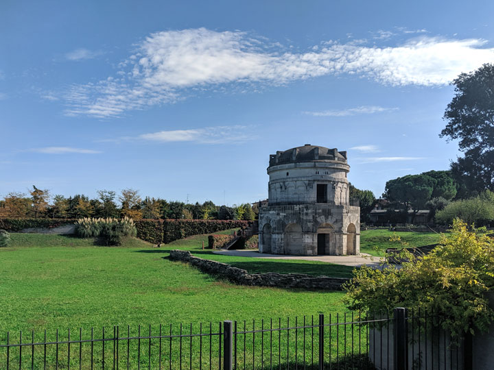 Ravenna Mausoleo di Teodorico in the park on a sunny day