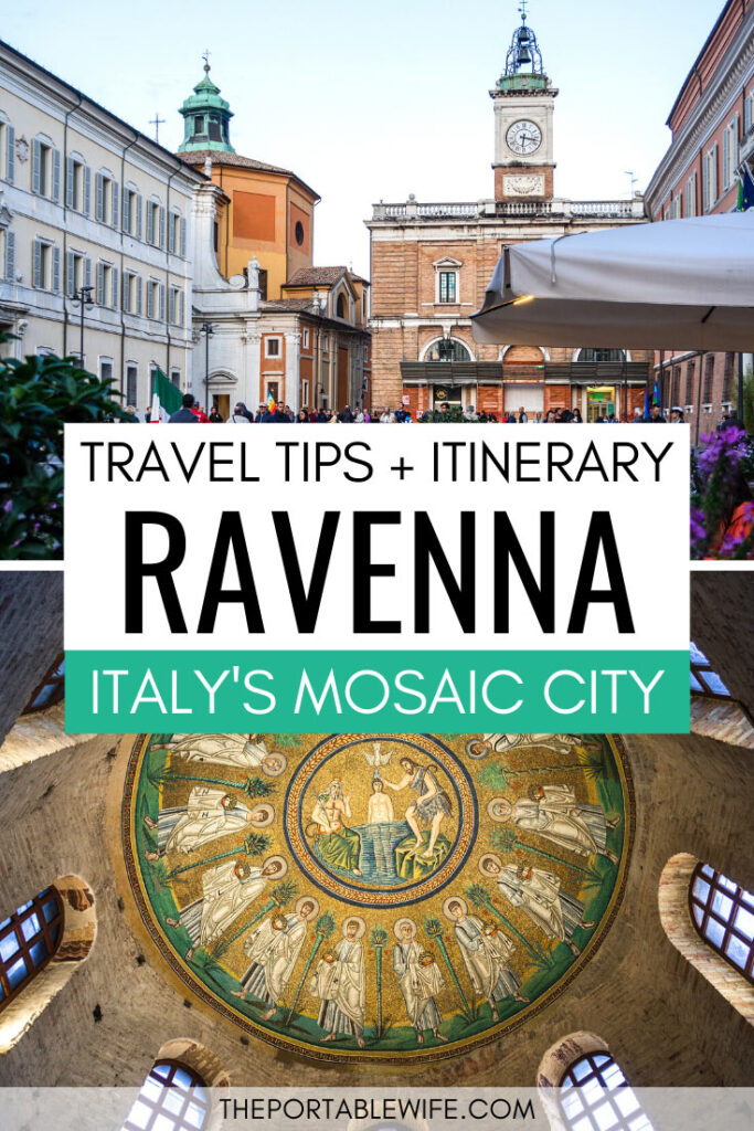 Travel tips and itinerary - Ravenna, Italy's mosaic city - town center and Arian Baptistry mosaic