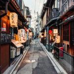 Historic Japanese lantern alley